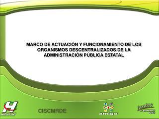 MARCO DE ACTUACI N Y FUNCIONAMIENTO DE LOS ORGANISMOS DESCENTRALIZADOS DE LA  ADMINISTRACI N P BLICA ESTATAL