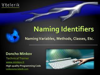 Naming Identifiers