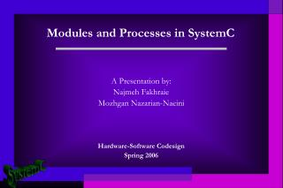 Modules and Processes in SystemC