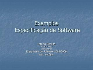 Exemplos   Especifica  o de Software