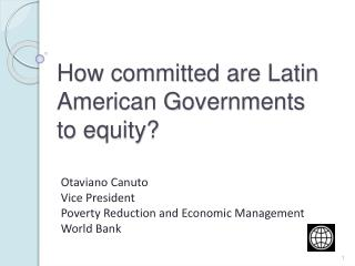 How committed are Latin American Governments to equity