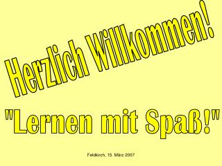Feldkirch, 15. M rz 2007