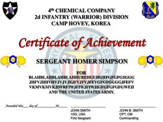4th CHEMICAL COMPANY 2d INFANTRY WARRIOR DIVISION CAMP HOVEY, KOREA