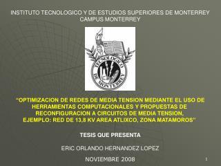 OPTIMIZACION DE REDES DE MEDIA TENSION MEDIANTE EL USO DE HERRAMIENTAS COMPUTACIONALES Y PROPUESTAS DE  RECONFIGURACION