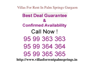 Apartments For Rent In Palm Springs Gurgaon Call 9599363363