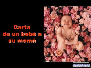 Carta         de un beb  a su mam