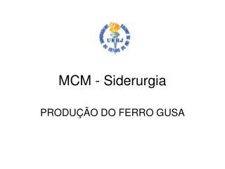 MCM - Siderurgia