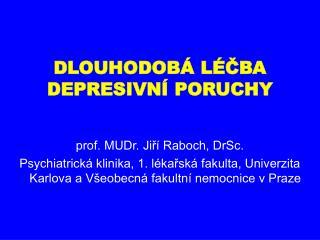 DLOUHODOB  L CBA DEPRESIVN  PORUCHY