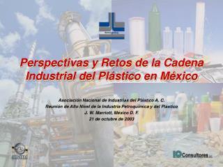 Perspectivas y Retos de la Cadena Industrial del Pl stico en M xico