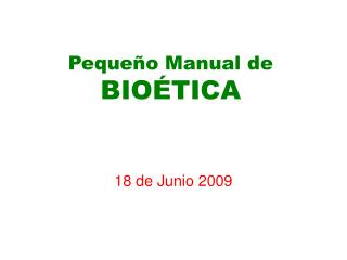 Peque o Manual de BIO TICA