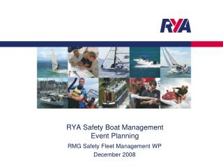 RYA Safety Boat Management Event Planning