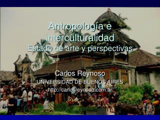 Antropolog a e interculturalidad Estado de arte y perspectivas