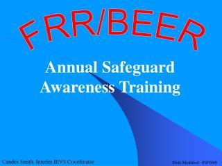 Annual Safeguard Awareness Training