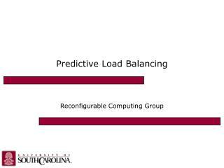Predictive Load Balancing