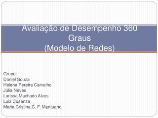 Avalia  o de Desempenho 360 Graus  Modelo de Redes