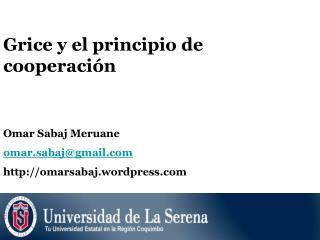 Grice y el principio de cooperaci n