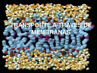 TRANSPORTE A TRAVES DE MEMBRANAS