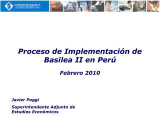 Proceso de Implementaci n de Basilea II en Per
