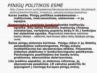 PINIGU POLITIKOS ESME mruni.eu