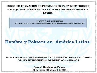 CURSO DE FORMACI N DE FORMADORES  PARA MIEMBROS DE LOS EQUIPOS DE PAIS DE LAS NACIONES UNIDAS EN AMERICA LATINA