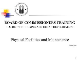 COMMISSIONERS TRAINING