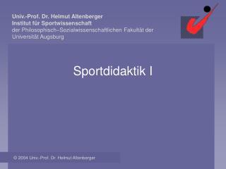 Sportdidaktik I