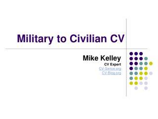 Military to Civilian CV