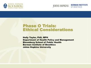 Phase O Trials: Ethical Considerations