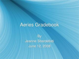 Aeries Gradebook