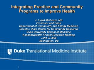 Integrating Practice and Community Programs to Improve Health