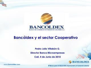 Pedro Julio Villab n G. Director Banca Microempresas Cali, 4 de Junio de 2010