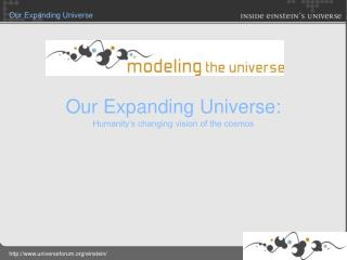 Our Expanding Universe: Humanity s changing vision of the cosmos