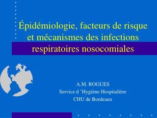 pid miologie, facteurs de risque et m canismes des infections respiratoires nosocomiales