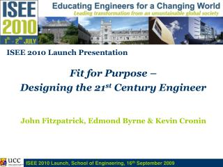 ISEE2010 launch presentation