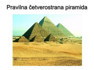 Pravilna cetverostrana piramida