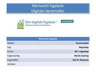 Merkantil fagskole Digitale l remidler