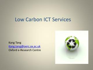 Low Carbon ICT Services