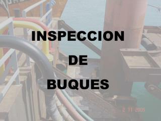 INSPECCION DE  BUQUES
