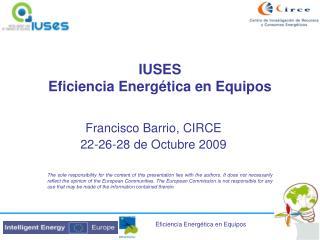IUSES Eficiencia Energ tica en Equipos