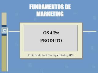 Prof. Paulo Jos  Gonzaga Ribeiro, MSc.
