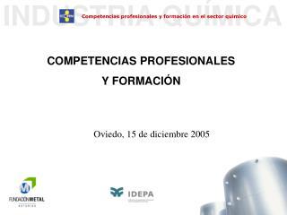 COMPETENCIAS PROFESIONALES Y FORMACI N