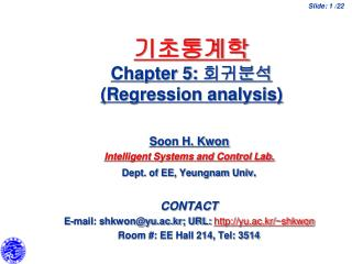 Chapter 5:  Regression analysis
