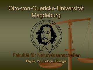 Otto-von-Guericke-Universit t Magdeburg