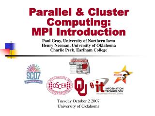 Parallel  Cluster Computing: