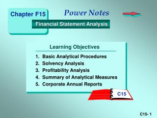 1. Basic Analytical Procedures 2. Solvency Analysis 3. Profitability Analysis 4. Summary of Analytical Measures 5. Corpo