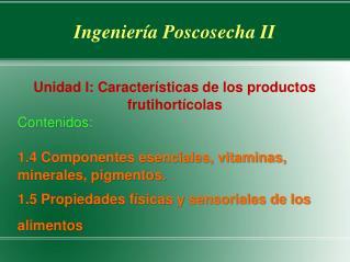 Ingenier a Poscosecha II