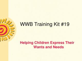 WWB Training Kit 19