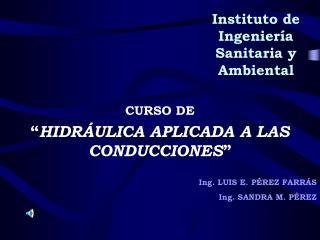 Instituto de Ingenier a Sanitaria y Ambiental