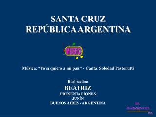 SANTA CRUZ REP BLICA ARGENTINA