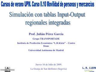 Simulaci n con tablas Input-Output  regionales integradas